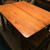 Value of an Antique Oak Table - solid oak table top
