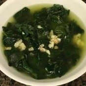 Spinach & Shrimp Soup in bowl