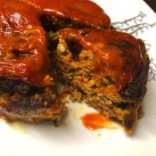 Glazed Meat Loaf on plate