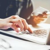 A man using a credit card