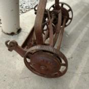 Information on an Old Reel Mower - rusty reel mower