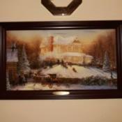 Value of a Thomas Kinkade Print - Victorian Christmas scene