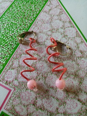 Spiral Paper Clip Earrings - pair of earrings