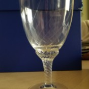 Identifying Vintage Drinking Glasses - stemmed glasses with a diamond pattern in the glass