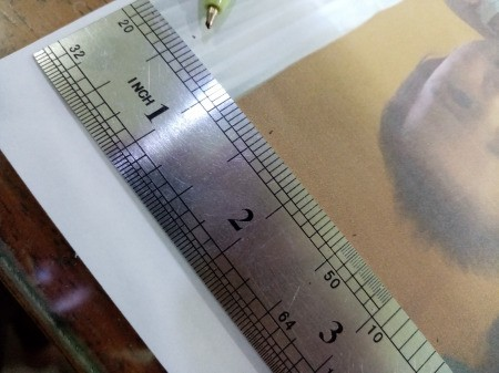 Making a Zigzag 3D Photo - measure the photo, divide into equal parts and mark on both sides