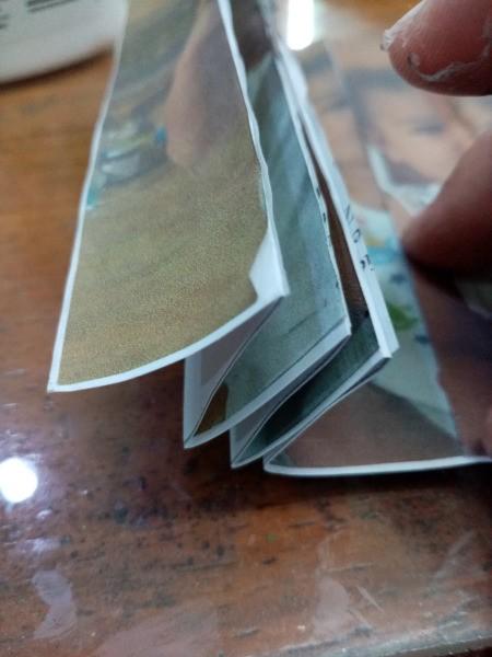 Making a Zigzag 3D Photo - folding