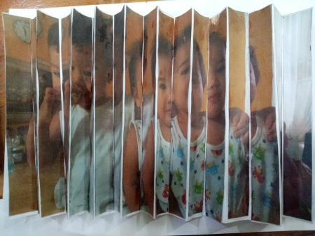 Making a Zigzag 3D Photo - accordion folded photo