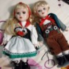 Identifying Porcelain Figurines - girl and boy wearing alpine attire