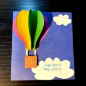 3D Hot Air Balloon Card - finished card