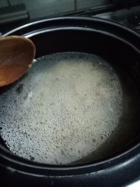 water added to pan
