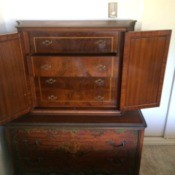 Selling an Antique Bedroom Set - chest of drawers with doors that close over the top 4 drawers