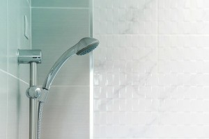 Showerhead with tile.