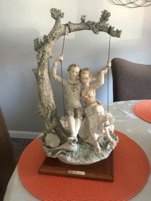 Information on a G. Armani Sculpture  - young man and woman on a tree swing