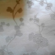 Discontinued Brewster Wallpaper #284-54243 - raised floral motif wallpaper