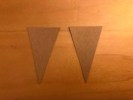 Sweet Birthday Wishes Envelope Card - cut triangles from kraft paper to resemble 2 ice cream cones
