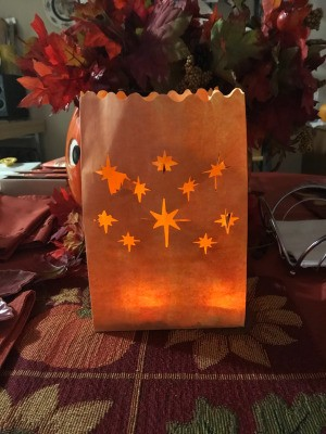 Fall or Halloween Illuminated Bags - finished luminaria