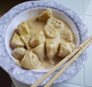 Creamed Banana in bowl