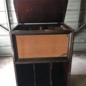 Value of a Vintage Fleetwood Cabinet Record Player - old upright cabinet record player
