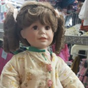 Identifying a Porcelain Doll - doll wearing pajamas