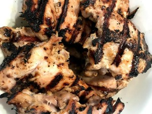 grilled marinaded Chicken Thighs