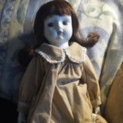 Identifying a Porcelain Doll - doll with long dress