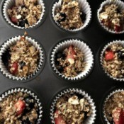 Strawberry & Blueberry Oat Muffins