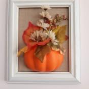 3D Fall Wall Art - faux pumpkin, leaf, and flower wall art