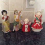 Repairing Old Figurines - four vintage figurines