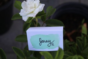 DIY Folded Name Place Cards