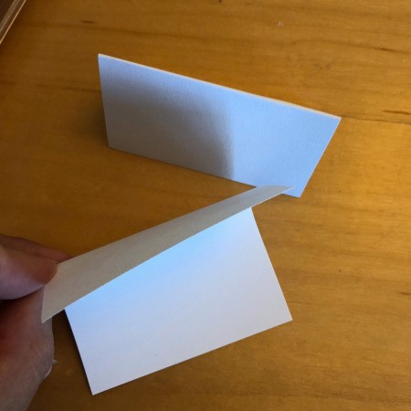 DIY Folded Name Place Cards - for freestanding cards fold in half