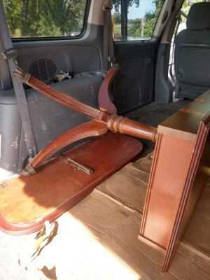 Is This a Duncan Phyfe Table? - table in back of a van