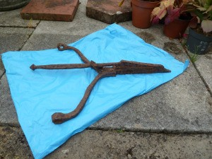 Identifying Old Agricultural Machinery Item- rusted iron item