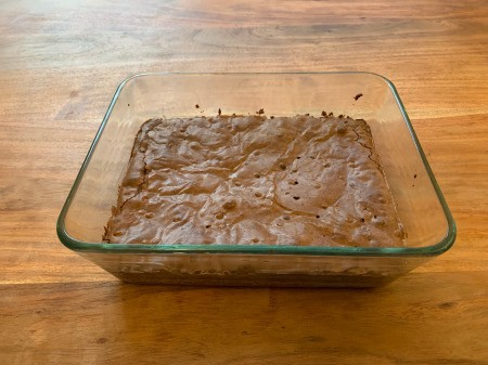 Spooky Halloween Worm Brownies - pan of brownies