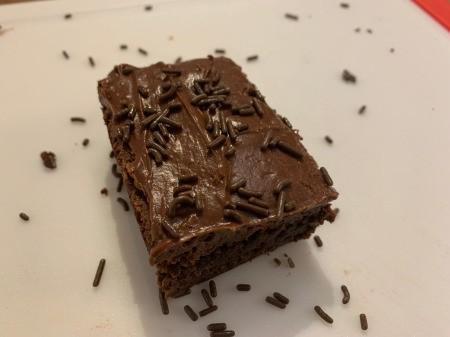 Spooky Halloween Worm Brownies - add chocolate sprinkles