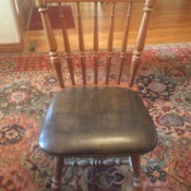 Value of Abernathy Furniture Company Table and Chairs - spindle back upholstered dining chair, armless
