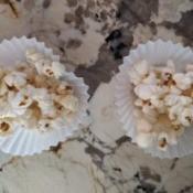 Honey Coconut Popcorn in paper cups