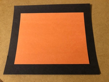 You're My Boo Card - cut out a slightly smaller orange rectangle and glue to the black one