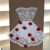 Finished kraft paper card with bridal dress