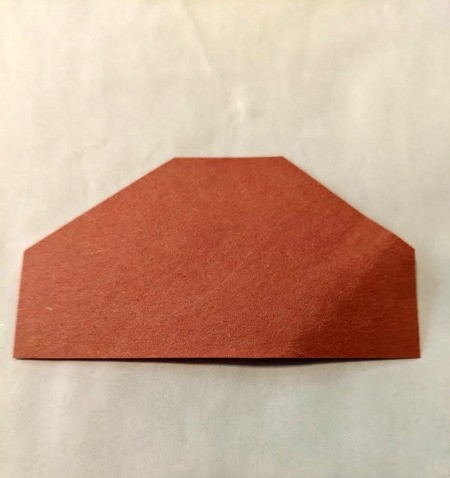 Paper Acorn Kids' Craft - cap cut from brown paper