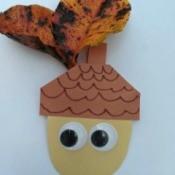 Paper Acorn Kids' Craft - attach eyes