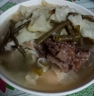 Beef Spareribs Soup in bowl