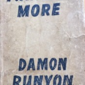 Value of a 1944 Copy of Further More by Damon Runyon - dust jacket