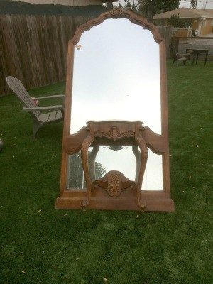 Identifying a Combined Large Mirror and Attached Console
