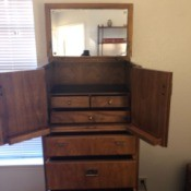 Value of a Drexel Bedroom Set - jewelry armoire