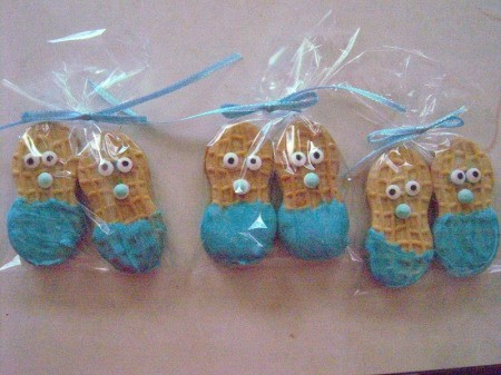 Little Peanut Baby Shower Favors - place in bags and tie with ribbon