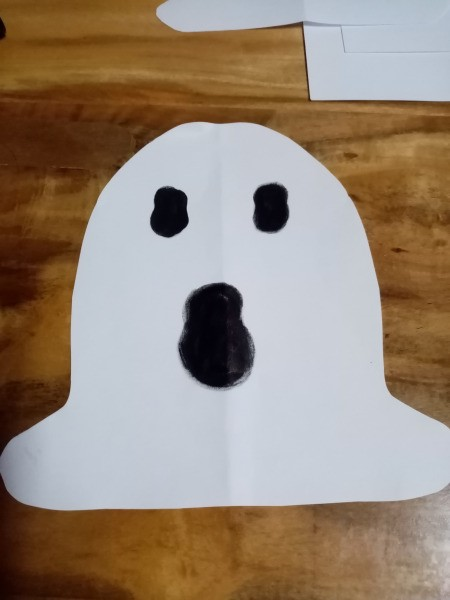 Ghost Night Light - draw a ghost's face on one bell