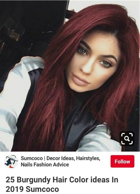 Darkening Dyed Hair - photo from Pinterest of color she wants