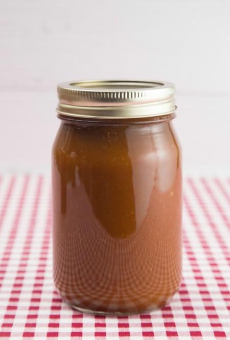A jar of apple pumpkin butter.