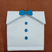 Gentleman Themed Paper Goody Bag - finished bag