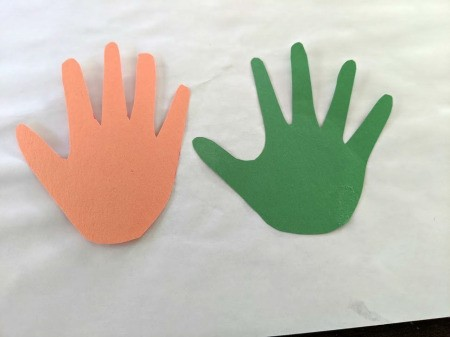 Boo Banner - trace and cut out hand prints in two different colors